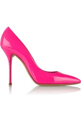 Casadei Neon Patent Leather Pumps Pink