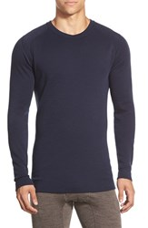 Men's Smartwool Long Sleeve Thermal T Shirt Deep Navy