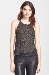 Parker 'Pittsburgh' Embellished Sleeveless Top Black