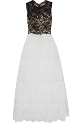 Mikael Aghal Guipure And Corded Lace Gown White