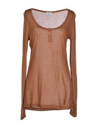 Only 4 Stylish Girls By Patrizia Pepe T Shirts Camel