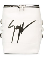 Giuseppe Zanotti Design Signature Backpack White
