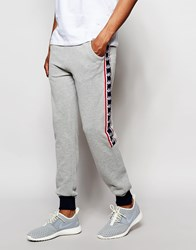 Kappa Skinny Joggers With Poppers Grey