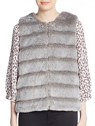 Joie Andrina Faux Fur Vest Sterling