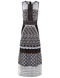 Jonathan Simkhai Black And White Organza Embroidered Gown