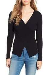 Leith Women's Crossover Rib Knit Sweater