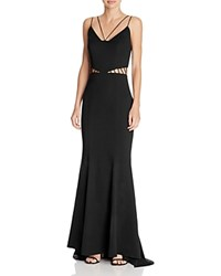 Jarlo Strappy Cutout Gown Black