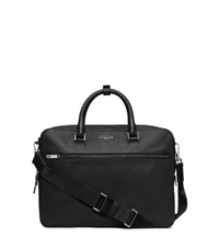 Michael Kors Harrison Medium Leather Briefcase Black