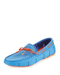 Swims Braided Bow Water Resistant Loafer Light Blue Men's