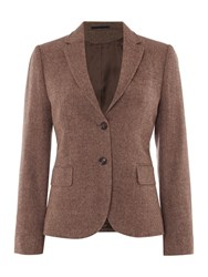 Gant Bid Eye Wool Blazer Dark Brown