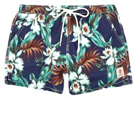 River Island Mens Blue Franklin And Marshall Floral Swim Shorts