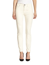 Jen7 Skinny Brushed Sateen Jeans Winter White