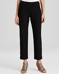 Eileen Fisher Petites' Organic Stretch Cotton Twill Slim Ankle Pants