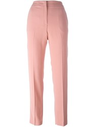 Msgm Straight Trousers Pink And Purple