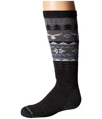 Smartwool Wintersport Fairisle Moose Charcoal Women's Knee High Socks Shoes Gray