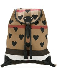 Burberry House Check Medium Backpack Nude And Neutrals