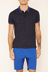 Forever 21 Geo Print Polo