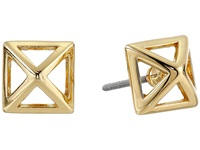 Rebecca Minkoff Cutout Stud Earrings Gold Toned Earring