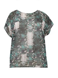 Label Lab Plus Size Scale Print Waterfall Back Top Multi Coloured