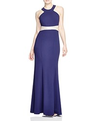 Decode 1.8 Embellished Waist Gown Navy