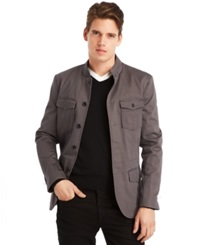 Kenneth Cole Reaction Mock Neck Military Blazer