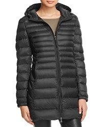 Aqua Puffer Coat Shiny Black