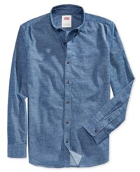Levi's Men's Franklin Slub Long Sleeve Shirt Blue
