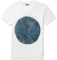 Blue Blue Japan Circle Print Cotton Jersey T Shirt White