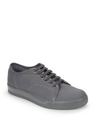 Gbx Mono Canvas Lace Up Sneakers Grey