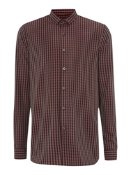 Peter Werth Florey Micro Collar Check Shirt Red