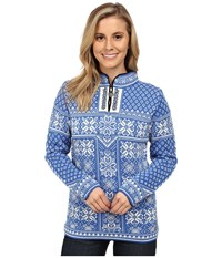 Dale Of Norway Peace Cobalt Off White Women's Sweater Blue