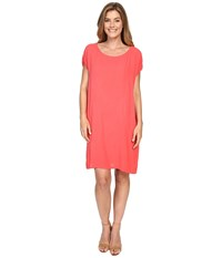 Allen Allen Short Caftan Dress Begonia Women's Dress Pink