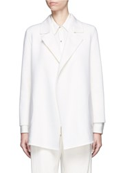 Theory 'Clairene' Felted Wool Cashmere Coat White