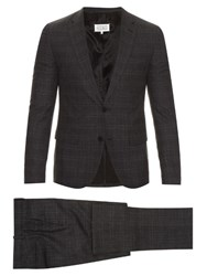 Maison Martin Margiela Checked Wool And Silk Blend Suit Charcoal