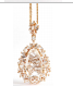 Suzanne Kalan Rose Gold Pear Necklace
