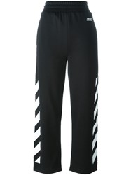 Off White Side Stripes Track Pants Black
