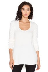 Saint Grace Brit Side Button Long Sleeve Tee Cream