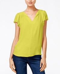 Maison Jules Flutter Sleeve Woven Top Only At Macy's Sunfish