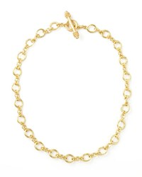 Elizabeth Locke Riviera Gold 19K Link Necklace 17 L