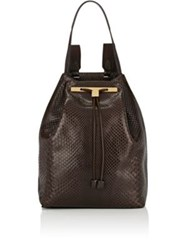 The Row Women's Python Backpack 11 Dark Brown