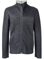 Salvatore Santoro Funnel Neck Zip Jacket Grey