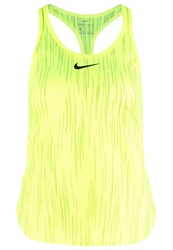 Nike Performance Premier Slam Sports Shirt Volt Black Neon Yellow