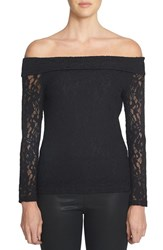1.State Women's Off The Shoulder Lace Top