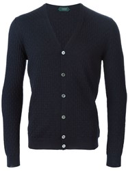 Zanone Textured Knit Cardigan