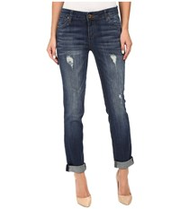 Kut From The Kloth Catherine Boyfriend Jeans In Allowing W Dark Stone Base Wash Allowing Dark Stone Base Wash Women's Jeans Blue