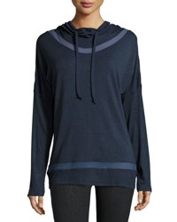 The Balance Collection Long Inset Mesh Inset Hoodie H. Deep Co