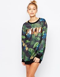 Puma Sweat Dress With All Over Eco Print And Rose Gold Logo Multi