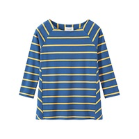 Toast Interlock Wide Stripe T Shirt Mazarine Ochre