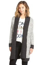 Junior Women's Rvca 'Still Free' Long Open Cardigan