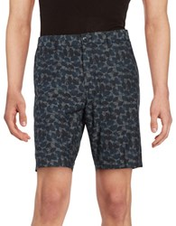 Ben Sherman Cd Print Shorts Petrol Blue
